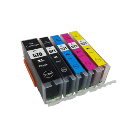 Compatible Canon PGI-570XL CLI-571XL Ink Cartridge Multipack (No Grey) - 5 Inks