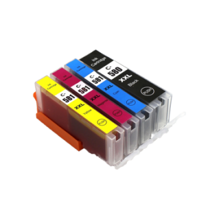 Compatible Canon PGI-580 CLI-581 XXL Ink Cartridge Multipack [4 Pack] BK/C/M/Y