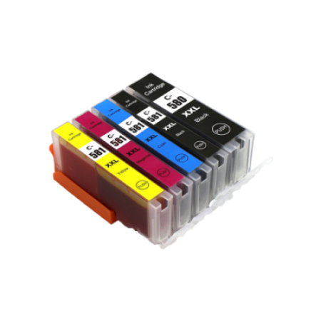 Compatible Canon PGI-580 CLI-581 XXL Ink Cartridge Multipack [5 Pack] BK/C/M/Y/PB
