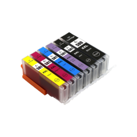 Compatible Canon PGI-580 CLI-581 XXL Extra High Capacity Ink Cartridge Multipack - 6 Inks