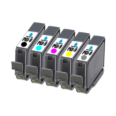 Compatible Canon PGI-9 Ink Primary Pack (with Grey) - 5 Inks