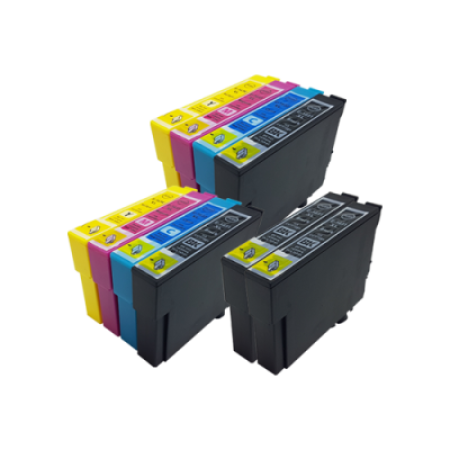 Compatible Epson 16XL Ink Cartridge TWIN Multipack + 2 FREE Black Ink [10 Pack] BK/C/M/Y