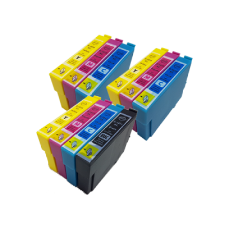 Compatible Epson 18XL Ink Cartridge Colour Mixed Multipack [10 Pack] BK/C/M/Y