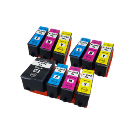 Compatible Epson 202XL Ink Cartridge Colour Mixed Multipack - 10 Inks (No Photo Black)