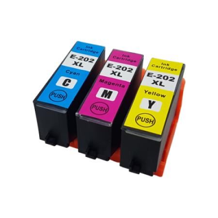 Compatible Epson 202XL Ink Cartridge Colour Multipack C/M/Y
