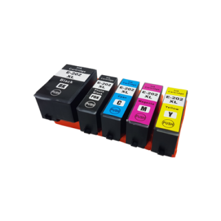 Compatible Epson 202XL Multipack Ink Cartridges BK/C/M/Y/PB