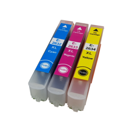 Compatible Epson 26XL Ink Cartridge Colour Pack [3 Pack] C/M/Y