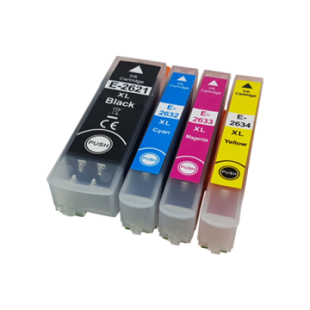 Compatible Epson 26XL Multipack T2636 Ink Cartridges BK/C/M/Y