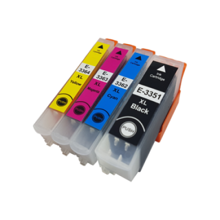 Compatible Epson 33XL Multipack T3357 Ink Cartridges BK/C/M/Y