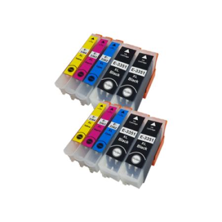Compatible Epson 33 XL T3351-T3364 Ink Cartridge Twin Pack (no photo black) - 10 Inks