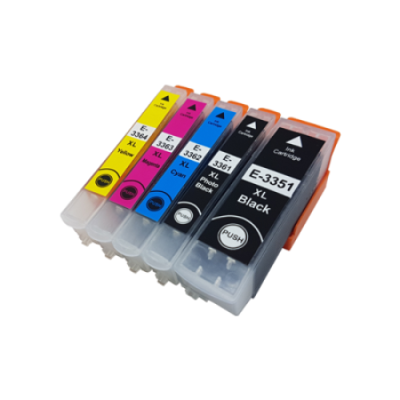 Compatible Epson 33 XL T3357 Ink Cartridge Multipack (+ photo black) BK/C/M/Y/PB