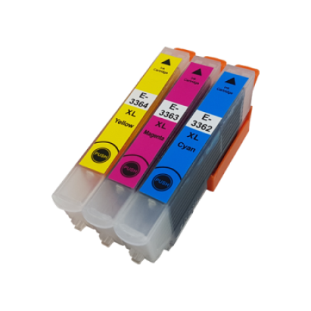 Compatible Epson 33 XL T3362/3/4 Ink Cartridge Colour Multipack C/M/Y