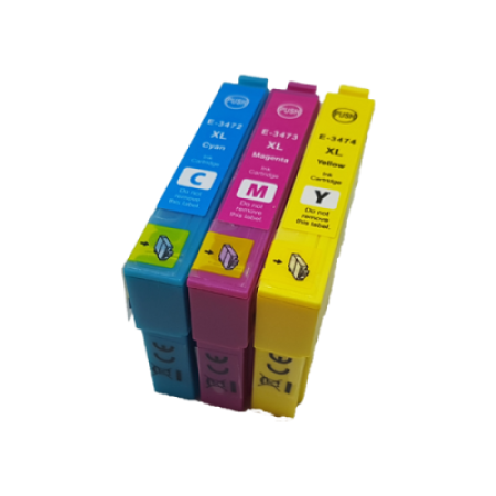 Compatible Epson 34XL T3472/3/4 Ink Cartridge Colour Multipack C/M/Y