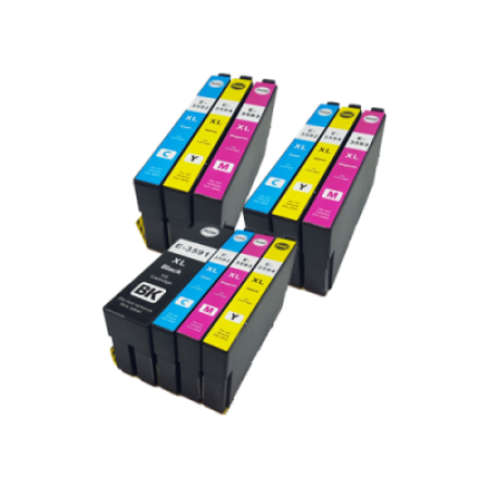 Compatible Epson 35XL Ink Cartridge Colour Mixed Multipack [10 Pack] BK/C/M/Y