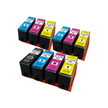 Compatible Epson 378XL Ink Cartridge Colour Mixed Multipack [10 Pack] BK/C/M/Y