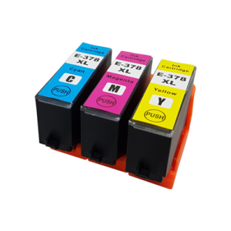 Compatible Epson 378XL Ink Cartridge Colour Multipack [3 Pack] C/M/Y
