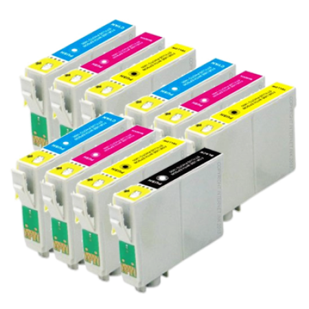 Compatible Epson T0441/2/3/4 Ink Cartridge Colour Mixed Multipack - 10 Inks