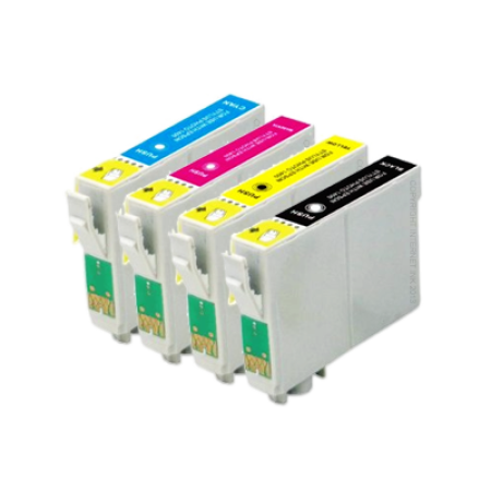 Compatible Epson T0445 Multipack (T0441-T0444) Ink Cartridges BK/C/M/Y