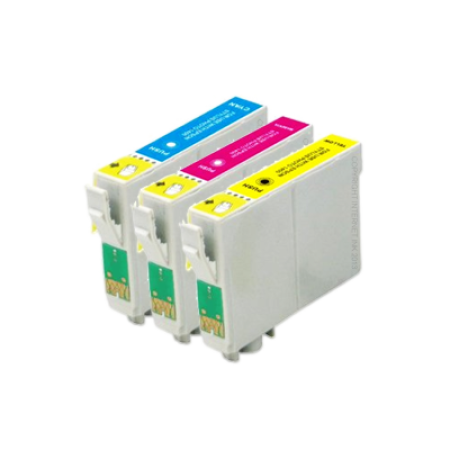Compatible Epson T0612 - T0614 Ink Cartridge Colour 3 Pack