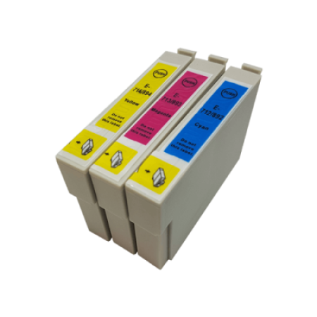 Compatible Epson T0712 - T0714XL Ink Cartridge Colour Pack - 3 Inks