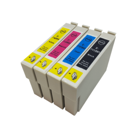 Compatible Epson T0715 Multipack Ink Cartridges (T0711/2/3/4) BK/C/M/Y