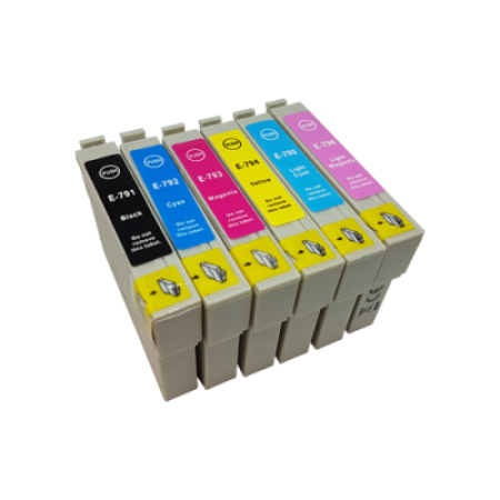 Compatible Epson T0791-T0796 Ink Cartridge Multipack - 6 Inks