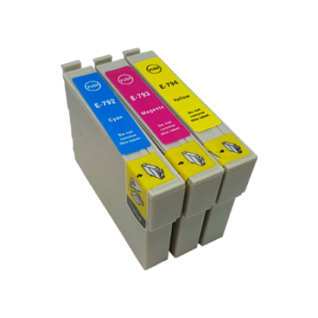 Compatible Epson T0792 T0793 T0794 Ink Cartridge Colour Pack - 3 Inks
