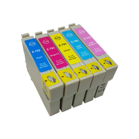 Compatible Epson T0792 - T0796 Ink Cartridge Colour Pack - 5 Inks