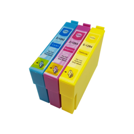 Compatible Epson T1282/3/4 Ink Cartridge Colour Triple Multipack C/M/Y