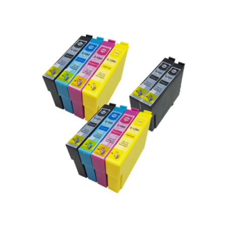 Compatible Epson T1285 (T1281/2/3/4) Ink Cartridge TWIN Multipack + 2 FREE Blacks - 10 Inks