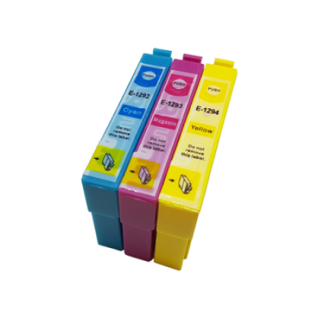 Compatible Epson T1292/3/4 Ink Cartridge Colour Triple Multipack C/M/Y