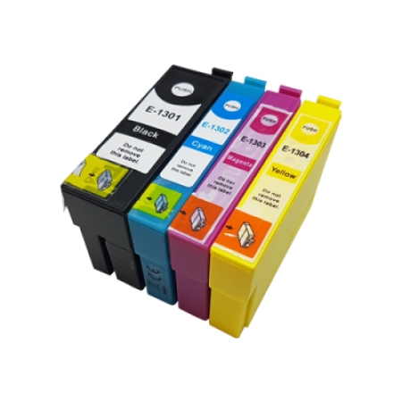 Compatible Epson T1305 Multipack (T1301/2/3/4) Ink Cartridges BK/C/M/Y