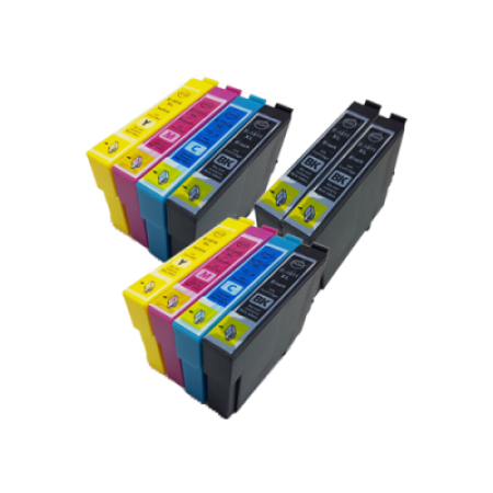 Compatible Epson 18XL Ink Cartridge TWIN Multipack + 2 FREE Black Ink [10 Pack] BK/C/M/Y