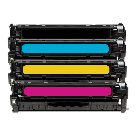 Compatible HP 125A CB540A Toner Cartridge Multipack BK/C/M/Y 4 Toners