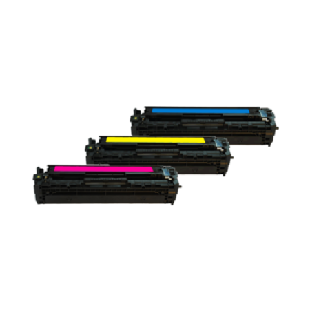 Compatible HP 128A CF371AM Colour Multipack - 3 Toners