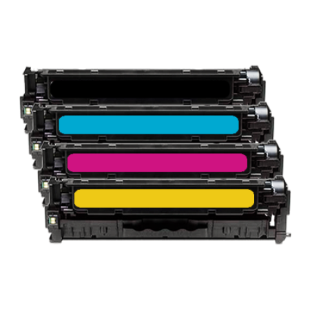 Compatible HP 304A Multipack Toner Cartridges CC530/1/2/3A BK/C/M/Y