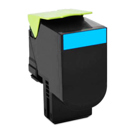 Compatible Lexmark 802HC High Capacity Cyan Toner Cartridge
