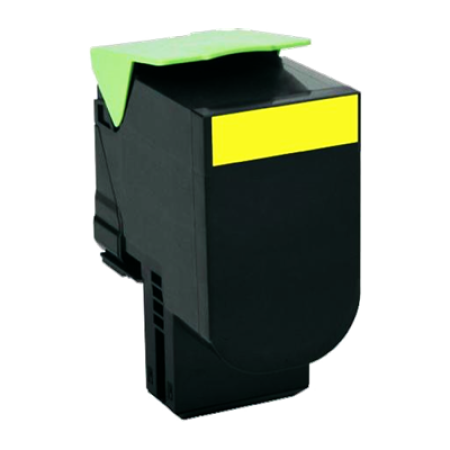 Compatible Lexmark 802HY High Capacity Yellow Toner Cartridge