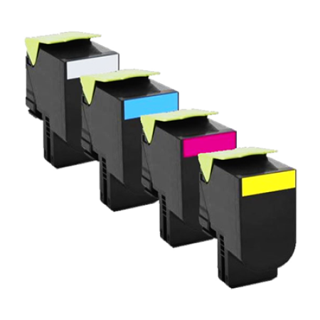 Compatible Lexmark 802S Toner Cartridge Multipack - 4 Toners