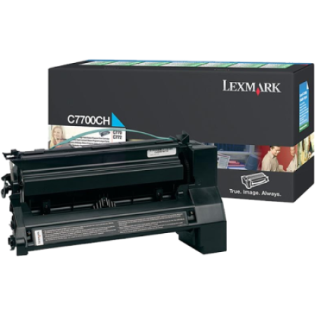 Compatible Lexmark C7700CH Cyan High Capacity Return Toner Cartridge