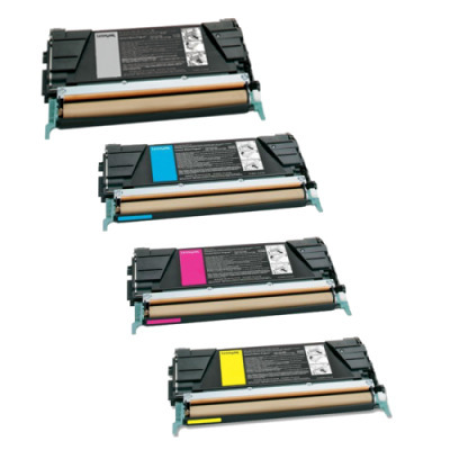 Compatible Lexmark C9202 Rainbow Toner Cartridge Pack