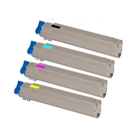 Compatible OKI 46508712/711/710/709 Toner Cartridge Pack - 4 Toners