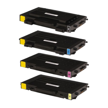 Compatible Samsung CLP-500 Series Toner Complete 4 Pack