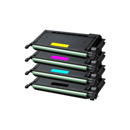 Compatible Samsung CLP-660B High Capacity Toner Cartridge Pack - 4 Toners