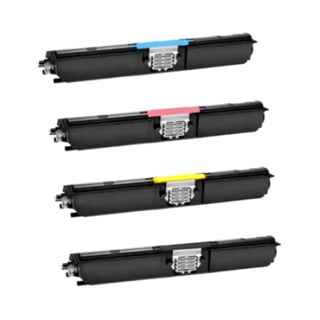 Compatible Xerox 6121 High Capacity Toner Cartridge Bundle Pack - 4 Toners