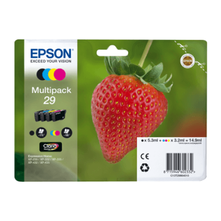Epson 29 T2986 Multipack Ink Cartridges BK/C/M/Y Original
