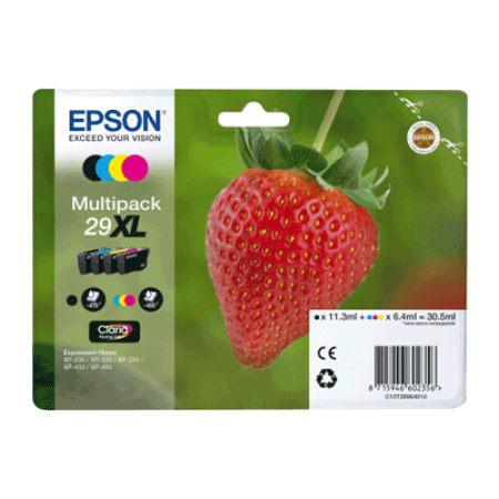 Epson 29XL Multipack Ink Cartridges T2996 BK/C/M/Y Original