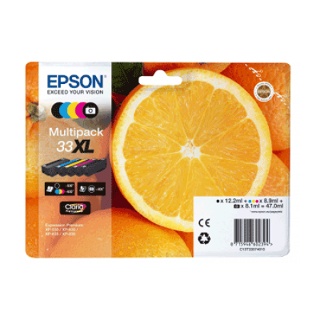 Epson 33XL T3357 Ink Cartridge Multipack 5 Inks