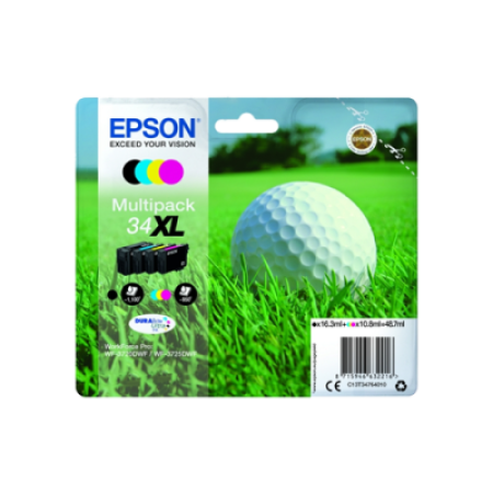 Epson 34XL T3476 Ink Cartridge Multipack Original BK/C/M/Y