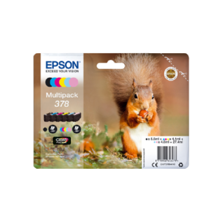Epson 378 T3788 Ink Cartridge Multipack - 6 Inks